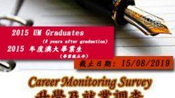 UM – Career Monitoring Survey for 2015 Graduates (3 Years After Graduation)